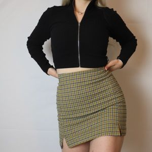 Brandy melville yellow and blue cara skirt